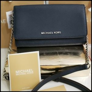 Michael Kors Crossbody Bag LG Phone Leather Blue